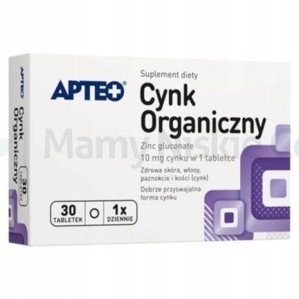 Cynk organiczny APTEO 30 tabletek