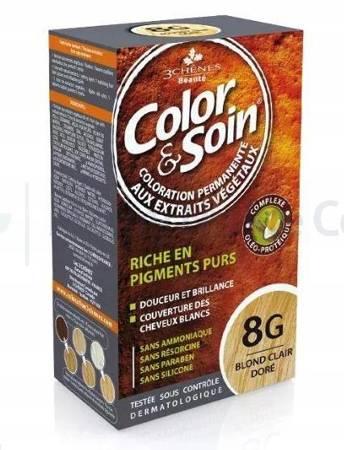 Farba COLOR&SOIN 8G złocisty jasny blond