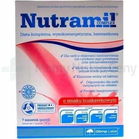 Olimp Nutramil Complex smak truskawkowy 7 saszetek