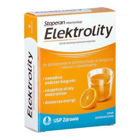 Stoperan Elektrolity pomarańcza 7 saszetek