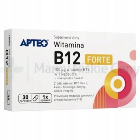 Witamina  B12 forte APTEO 30 kapsułek