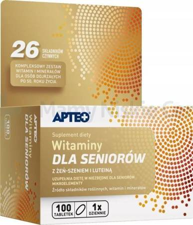 Witaminy dla seniorów APTEO 100 tabletek